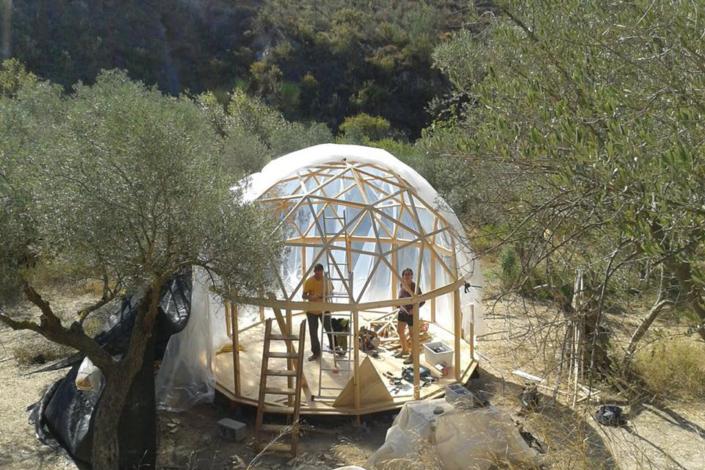 domo geodesico sin conectores