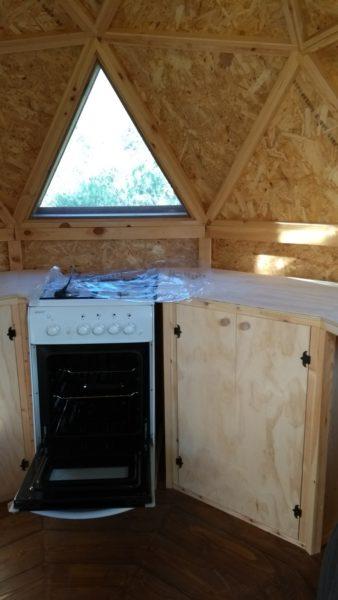 domo geodesico cocina