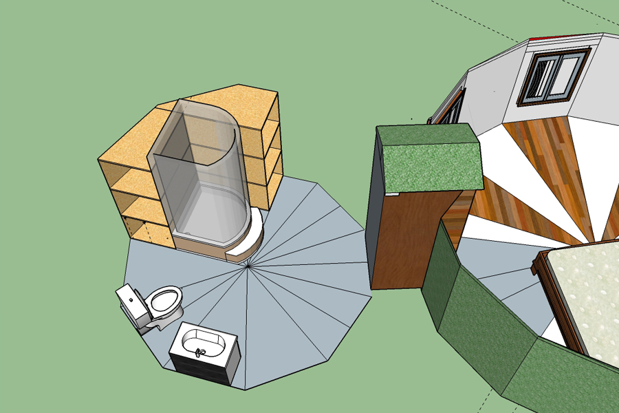 baño domo geodesico