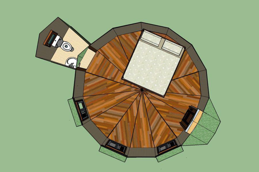 deseno domo geodesico